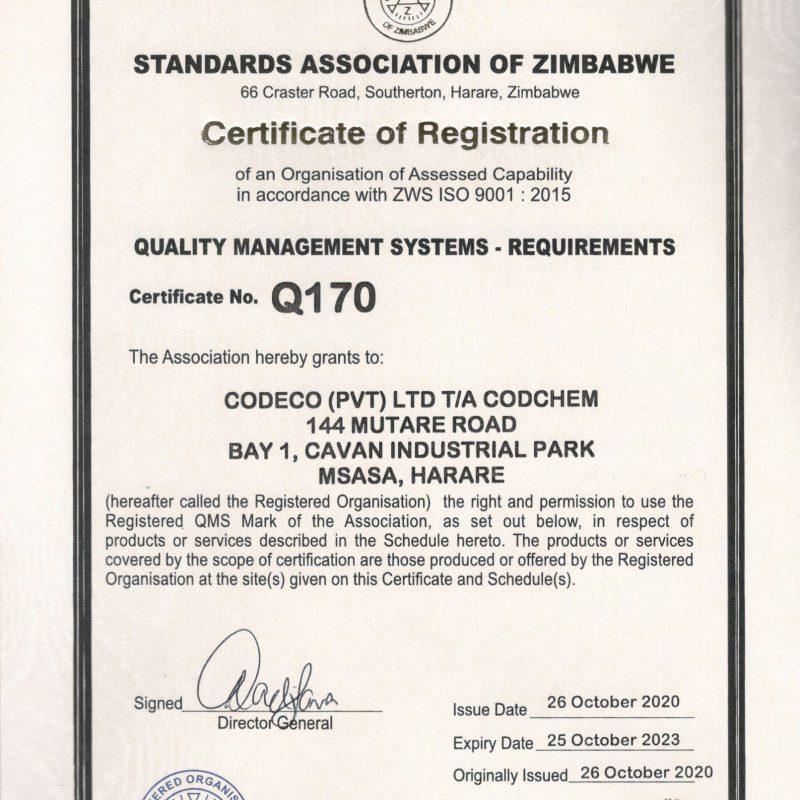 Codchem ISO Certificates-2